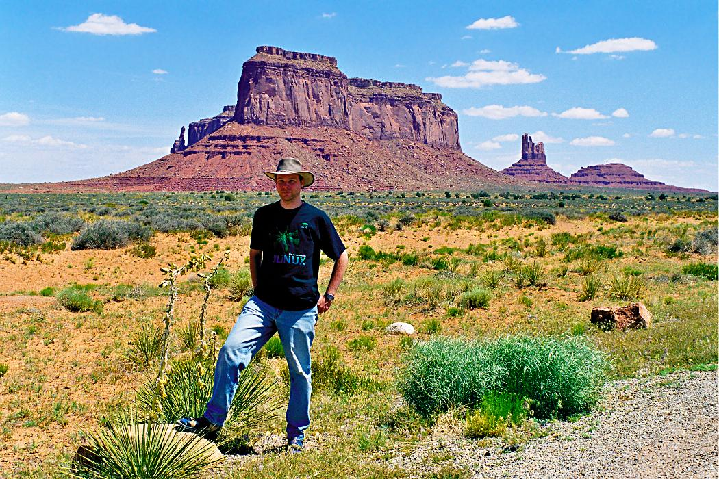 Arvin Schnell in Monument Valley, Arizona